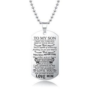 ~ To My Son - Love Mom/ Necklace